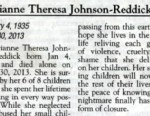 VIDEO: Marianne Theresa Johnson-Reddicks kids wrote about being exposed to her evil and violent life.