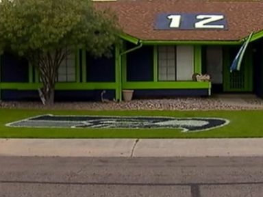 Watch:  Seahawks Super-Fan Paints House to Show Team Pride