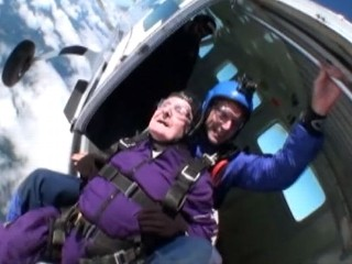 Watch: 87-Year-Old Man Skydives for Birthday