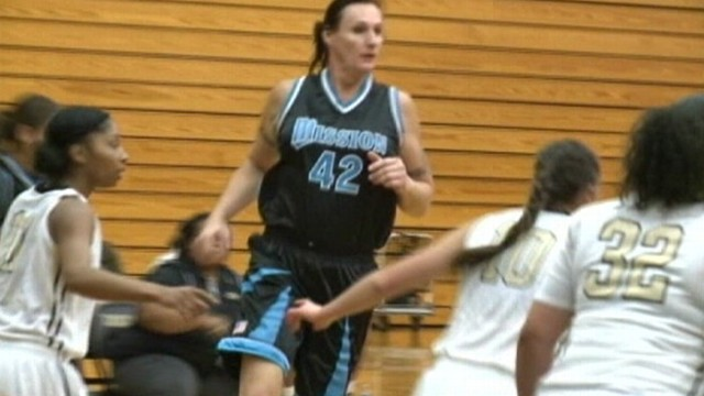 VIDEO: Navy veteran Gabrielle Ludwig endures jokes and threats to play hoops for Mission College.