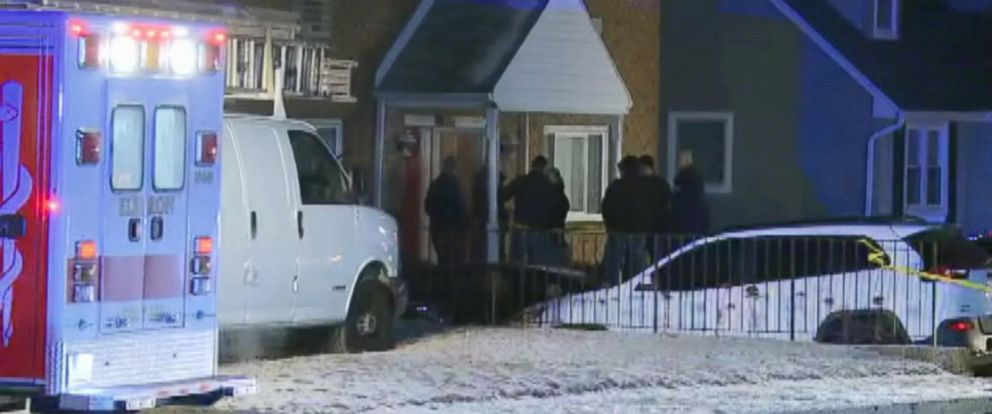 PHOTO: The scene in Long Branch, N.J., where four people were killed just before midnight New Years Eve, Dec. 31, 2017.
