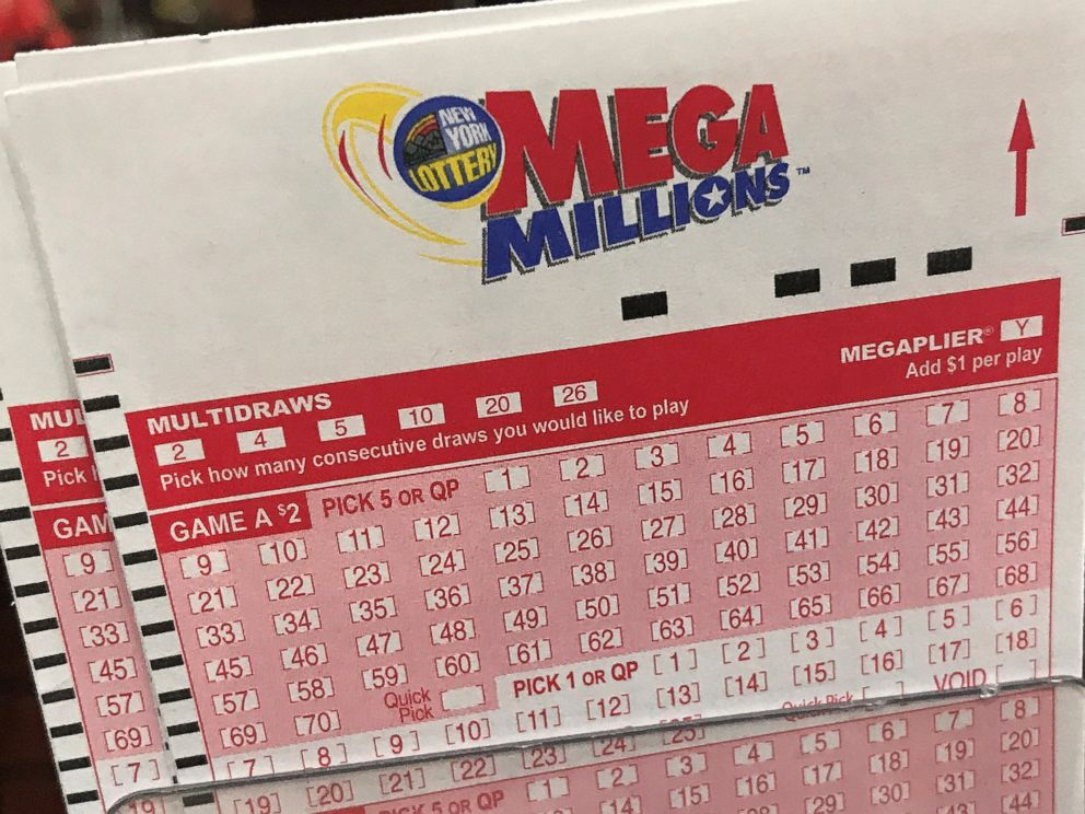 PHOTO: A Mega Millions ticket is pictured in a store in New York City, Jan. 5, 2018.