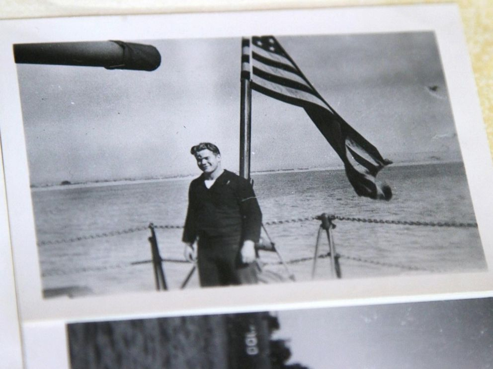 PHOTO: A photo of Loyd Leatherman taken aboard the USS Oglethorpe during WWII. He was 19-years-old.