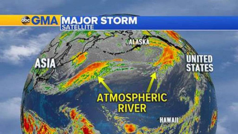 PHOTO: A so-called Atmospheric River could dump rain on parts of Oregon and Washington state this week.
