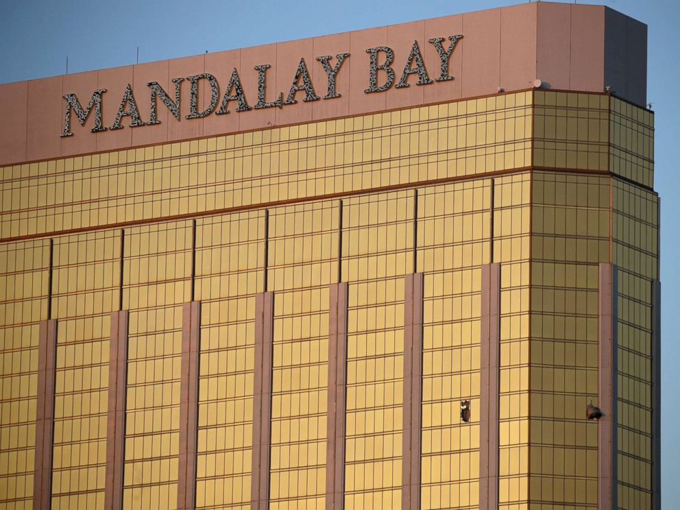 Surveillance video shows Vegas shooter slipping, falling at Cosmopolitan Hotel