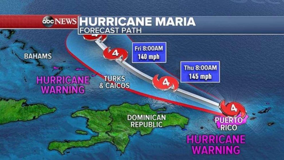 PHOTO: Hurricane Maria Forecast Path
