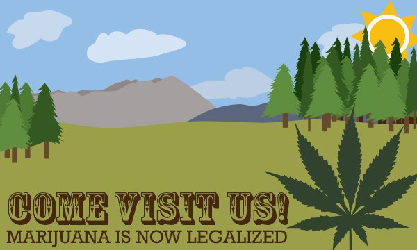 New laws in Colorado and Washington have legalized the possession of marijuana, leading some to think it could boost tourism.