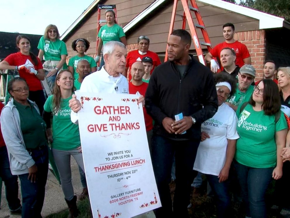 PHOTO: Jim McIngvale, better known as Mattress Mack, announced on Good Morning America, he will host a Thanksgiving dinner at one of his stores in Houston.