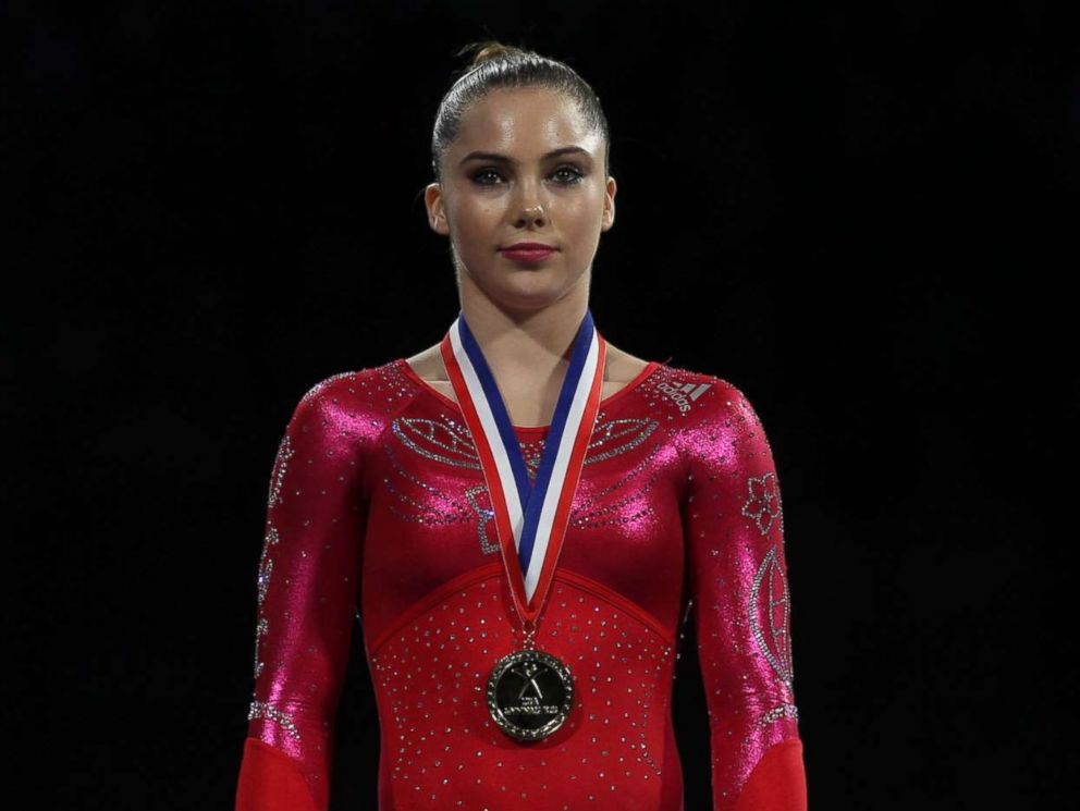 PHOTO: McKayla Maroney is pictured after winning the Vault and Floor Exercise during the Senior Women Competition at the 2013 P&G Gymnastics Championships during USA Gymnastics National Championships at the XL, Center, Hartford, Conn., Aug. 17, 2013.
