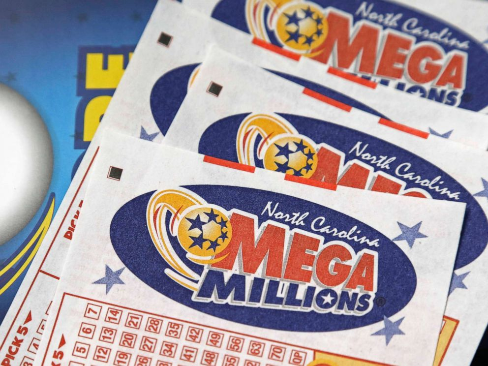 PHOTO: Mega Millions lottery tickets rest on a counter at a Pilot travel center near Burlington, N.C., July 1, 2016.