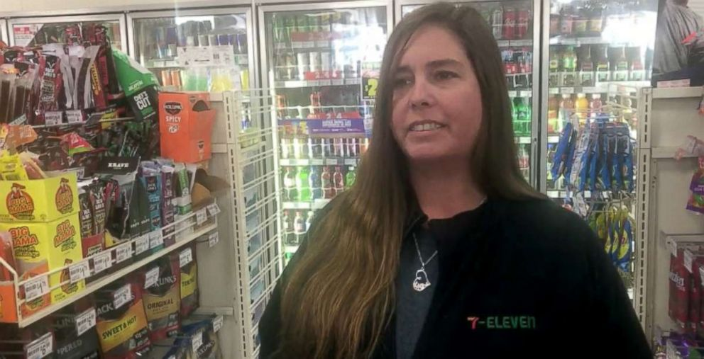PHOTO: Rachel Vanderwiede, one of two cashiers who sold the winning $450 million Mega Millions tickets at a 7-Eleven in Port Richey, Florida, told ABC News she has no idea who the lucky winner is.