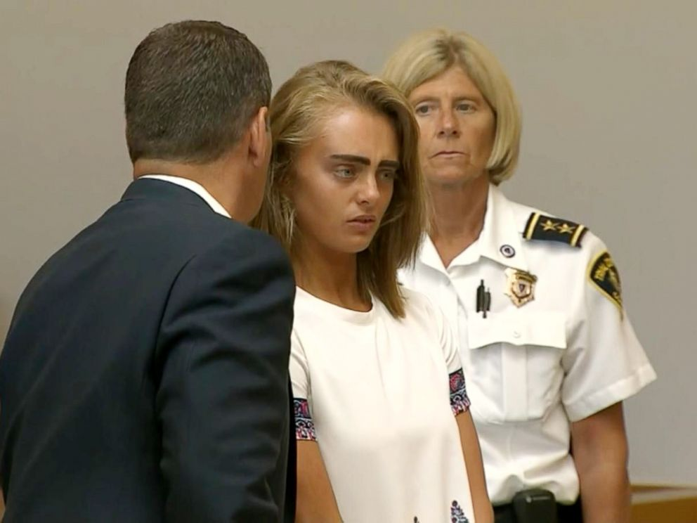 PHOTO: Michelle Carter listens to her sentencing from the judge in Tauton, Mass, Aug. 3, 2017.