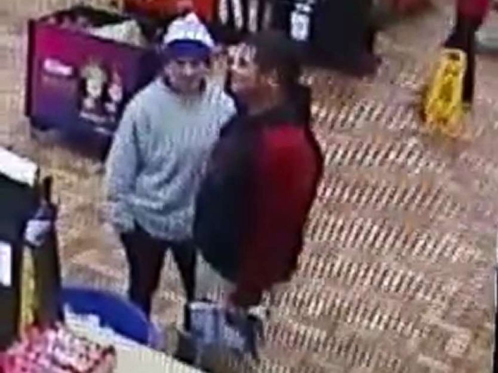 PHOTO: Surveillance video of Caitlyn Frisina, 17, and soccer coach Rian Rodriguez, 27, who had been missing for nearly one week.