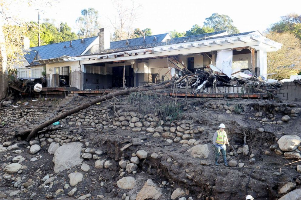 PHOTO: A house stands in the aftermath of the mudslide on East Valley Road in Montecito, Calif., Jan. 11, 2018.