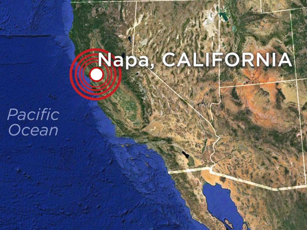 Northern California struck by earthquake Sunday, August 24, 2014.
