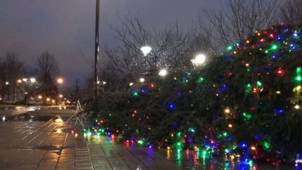 Holiday weekend storm brings flooding, car crashes and toppled Christmas trees