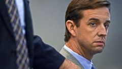 PHOTO: Kent Easter looks at the jury during opening statements at his trial in Santa Ana, Calif., Nov. 6, 2013.