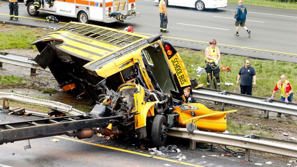 Multiple injuries reported after school bus, dump truck crash in New Jersey