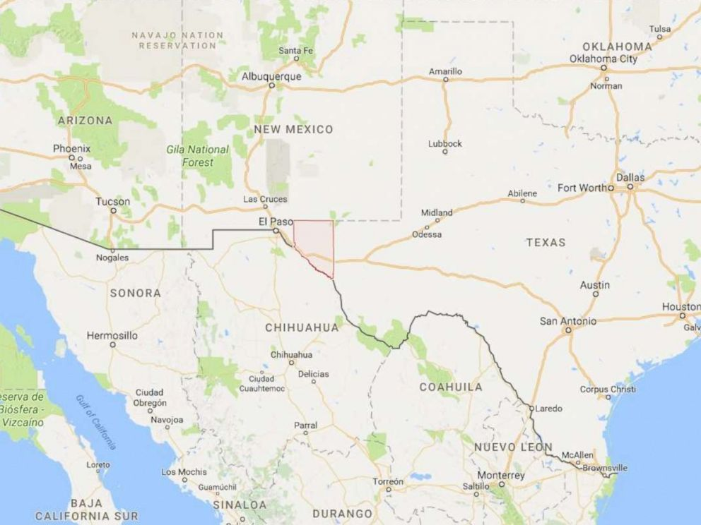 PHOTO: Hudspeth County, Texas is pictured at the border of New Mexico and Texas.