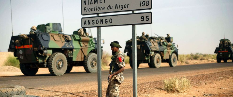 PHOTO: A soldier stands on the border of Niger. (file photo)