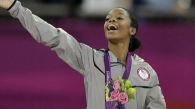 VIDEO: 16-year-old Gabby Douglas faced off against Russias Viktoria Komova for the all-around title.