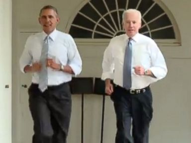 Obama and Biden Film a Workout Video Together