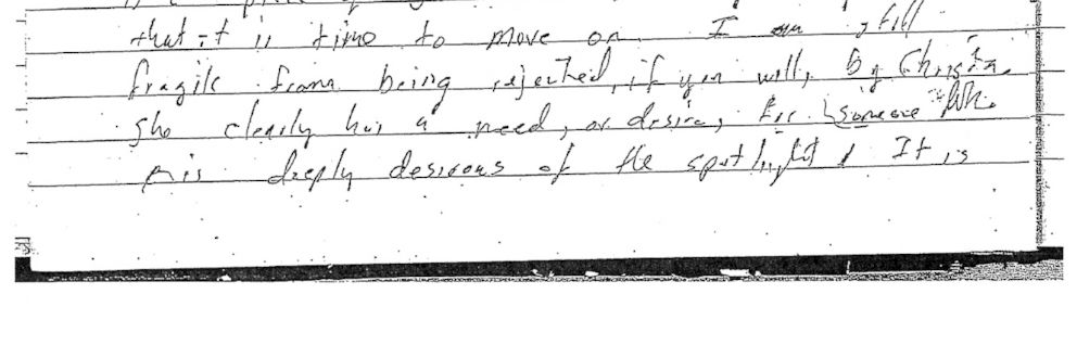 PHOTO: An excerpt from Tim Arnolds diary.