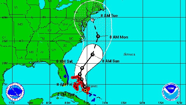 PHOTO: The projected path of Hurricane Sandy, which is threatening to hit the Northeast early next week.