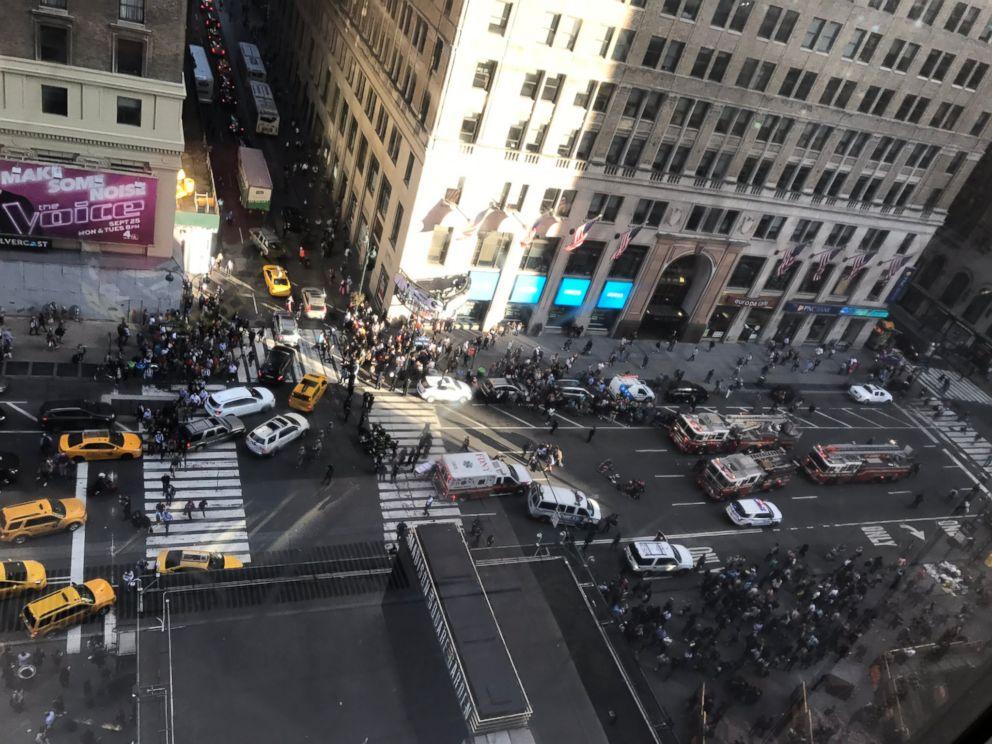 PHOTO: Three pedestrians were struck by a car near Penn Station in New York City, officials said.