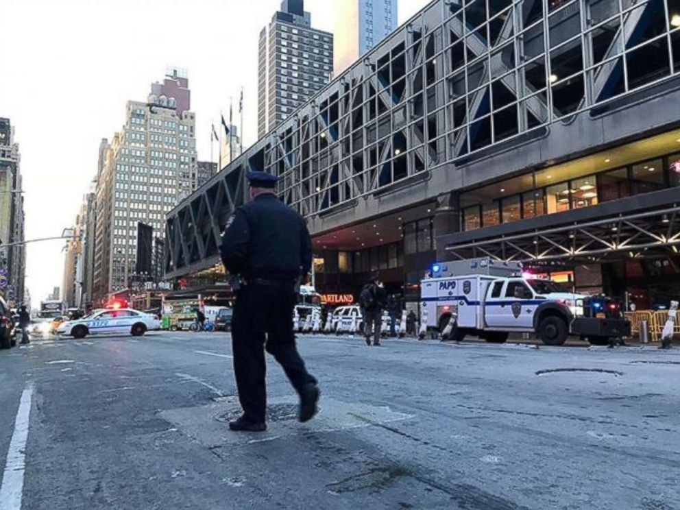PHOTO: An explosion in Port Authority closes down the area, Dec. 11, 2017, in New York City.