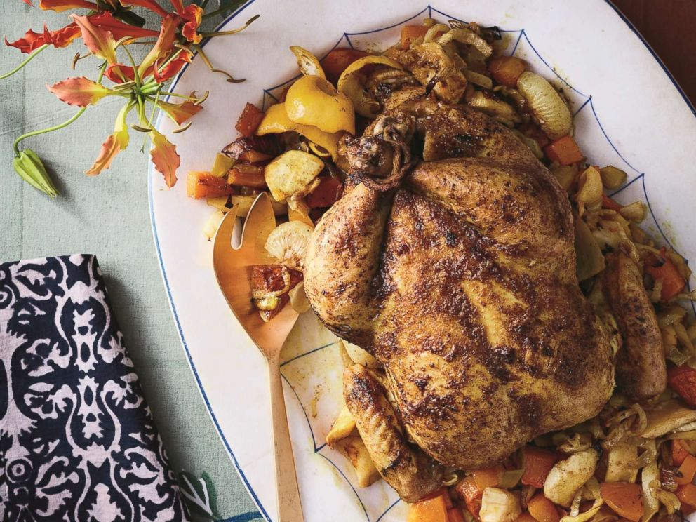 Zac Posen shares a recipe for his Herb-Roasted Chicken over Vegetables With Browned Butter Gravy, from his upcoming cookbook Cooking With Zac.