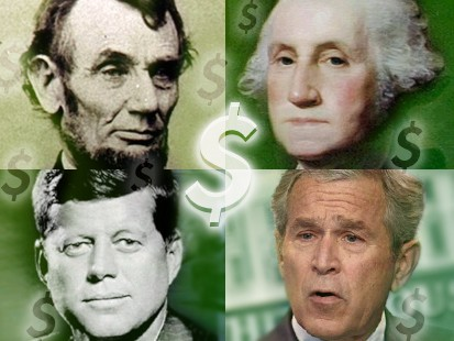 presidents and money