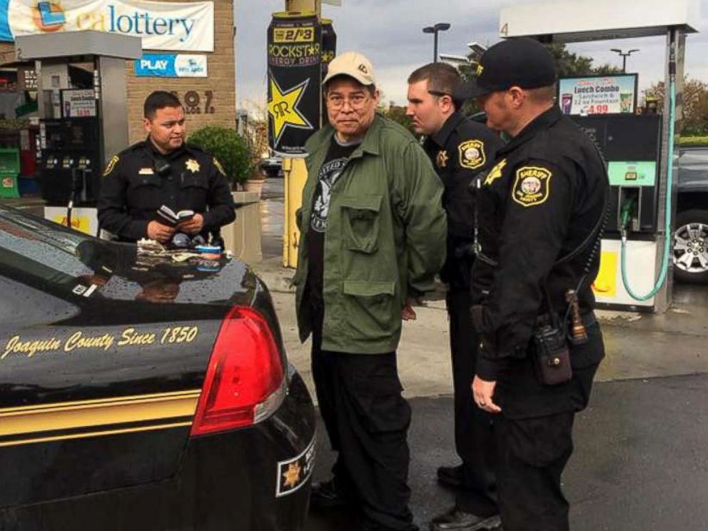 PHOTO: San Joaquin County Sheriff's Deputies arrested Randall Saito, the Hawaii State Hospital escapee, Nov. 15, 2017.