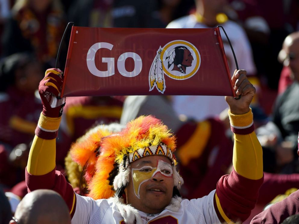 PHOTO: A Washington Redskins fan looks on before their game against the Tennessee Titans at FedEx Field, Oct. 19, 2014, in Landover, Maryland.