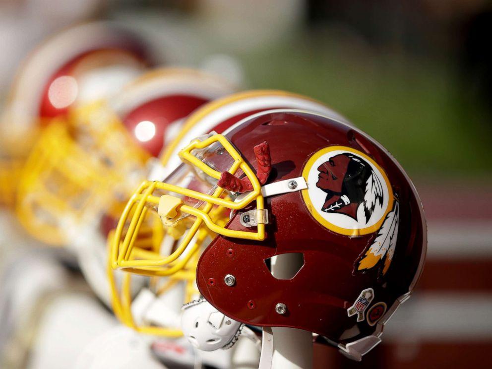 PHOTO: Washington Redskins helmets, Nov. 23, 2014, in Santa Clara, Calif.