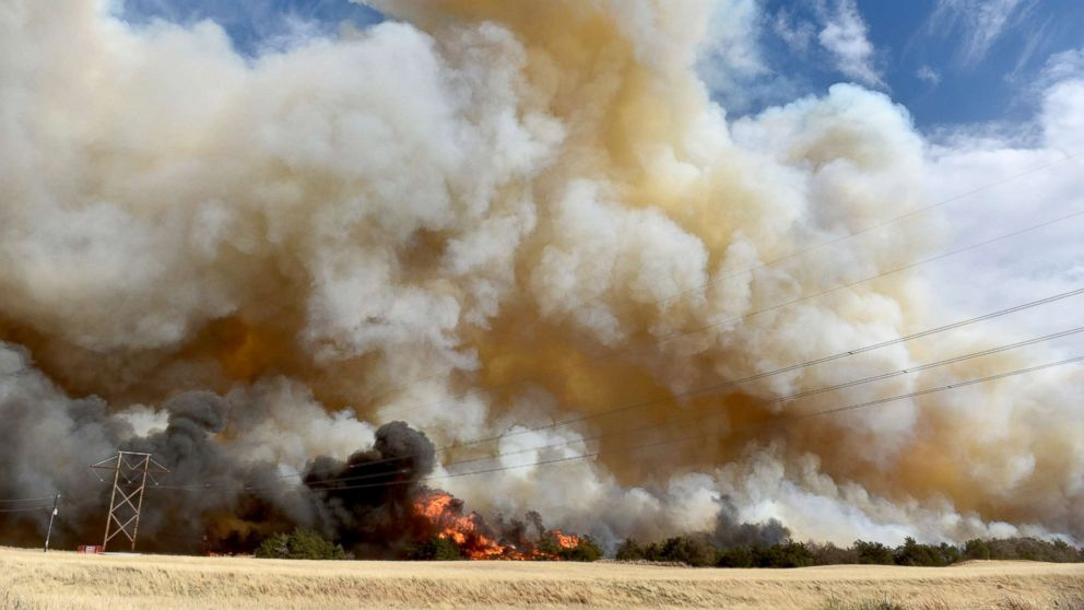 Oklahoma wildfire conditions remain critical, flames reaching up to 70 feet