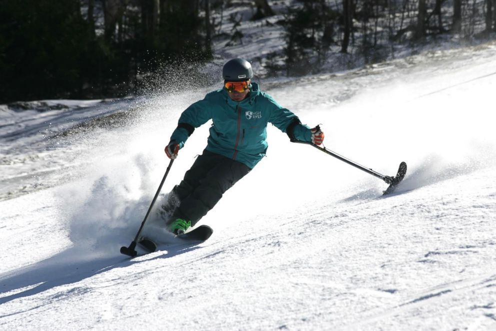 PHOTO: Roy Tuscany, seen here skiing, started his own nonprofit called the High Fives Foundation in 2009. The foundation helps get athletes whove suffered life-altering injuries back into the sports they love.