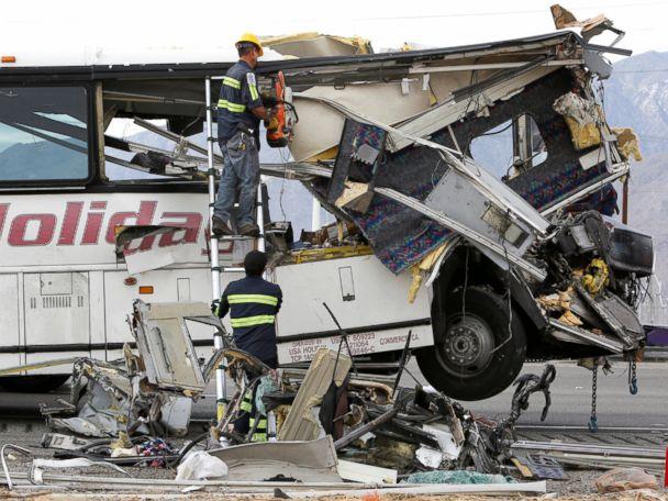 At Least 13 Dead in California Tour Bus Crash