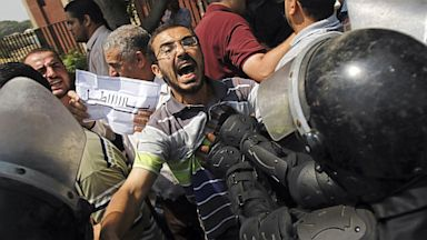 PHOTO: Muslim Brotherhood clash with riot police