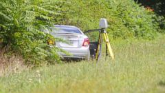 PHOTO: The car of suspected gunman Vester L. Flanagan, also known as Bryce Williams, is seen off Highway I-66 in Fauquier County, Va. Aug. 26, 2015.