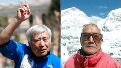 PHOTO: Yuichiro Miura and Min Bahadur Sherchan