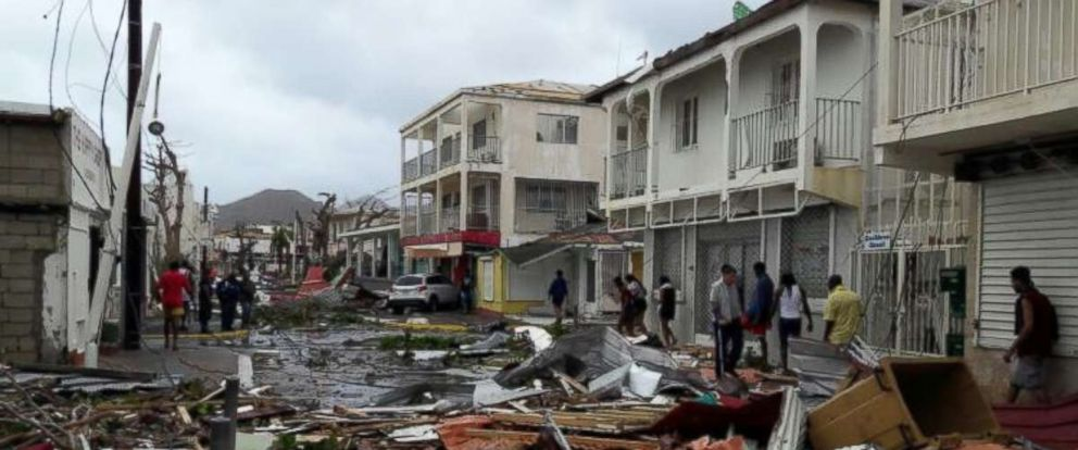 PHOTO: Saint-Martin after Hurricane Irma hit the island, Sept. 6, 2017.