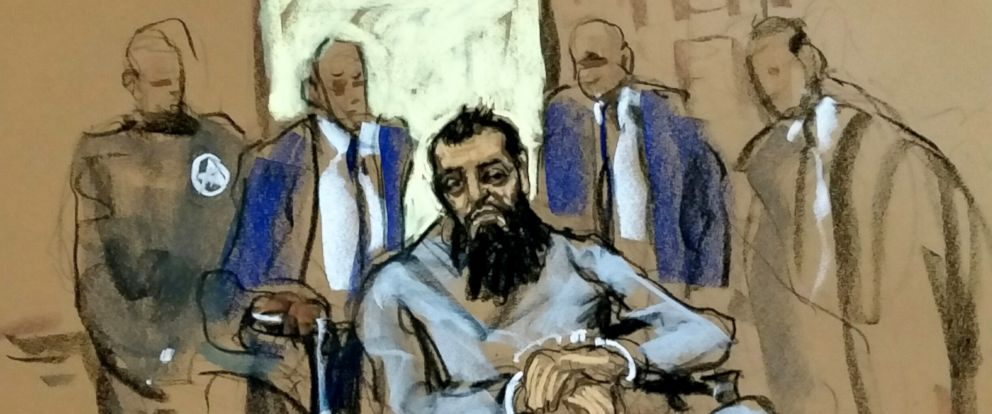 PHOTO: New York City terror suspect, Sayfullo Saipov, appears in federal court, Nov. 1, 2017, in New York City.