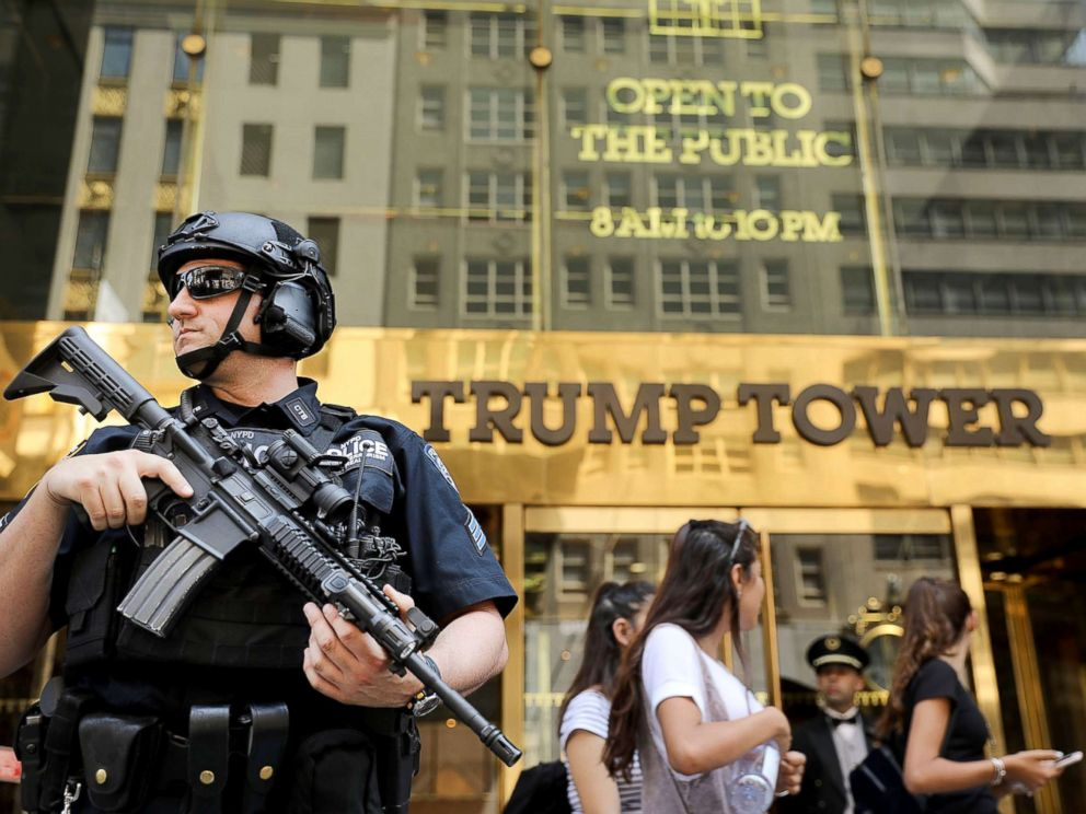 PHOTO: Police stand guard outside of Trump Tower, Aug. 4, 2017 in New York City.
