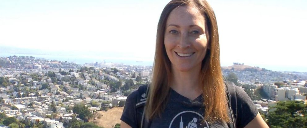 """PHOTO: Alexandra Kennin discusses how she gives walking tours of San Francisco as her """"side hustle"""" in an interview with ABC News Becky Worley."""