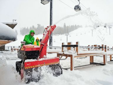 Western storms bring snow, winds as they move east