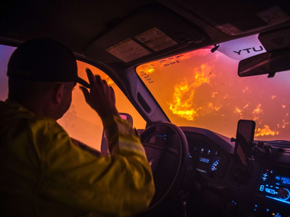 Firefighter working huge California fire dies