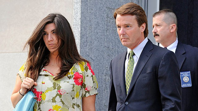 PHOTO: John Edwards, right, and daughter Cate, are shown arriving at the Federal Court in Greensboro N.C., May 4, 2012.