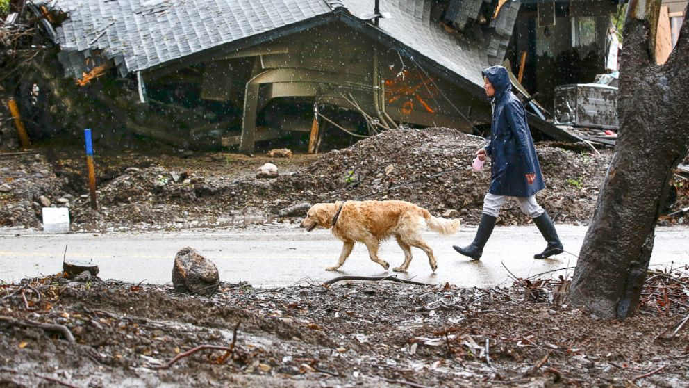 Mudslides, flash floods threaten Southern California 2 months after deadly storm