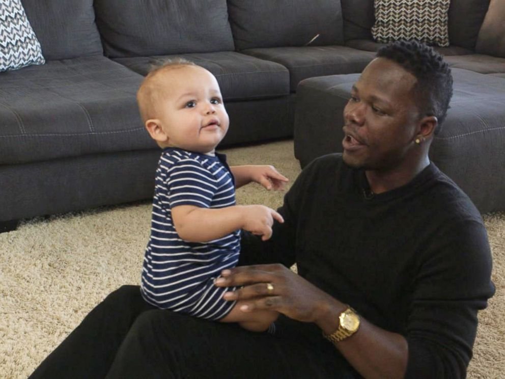 PHOTO: Wardell Jasper with his youngest son.